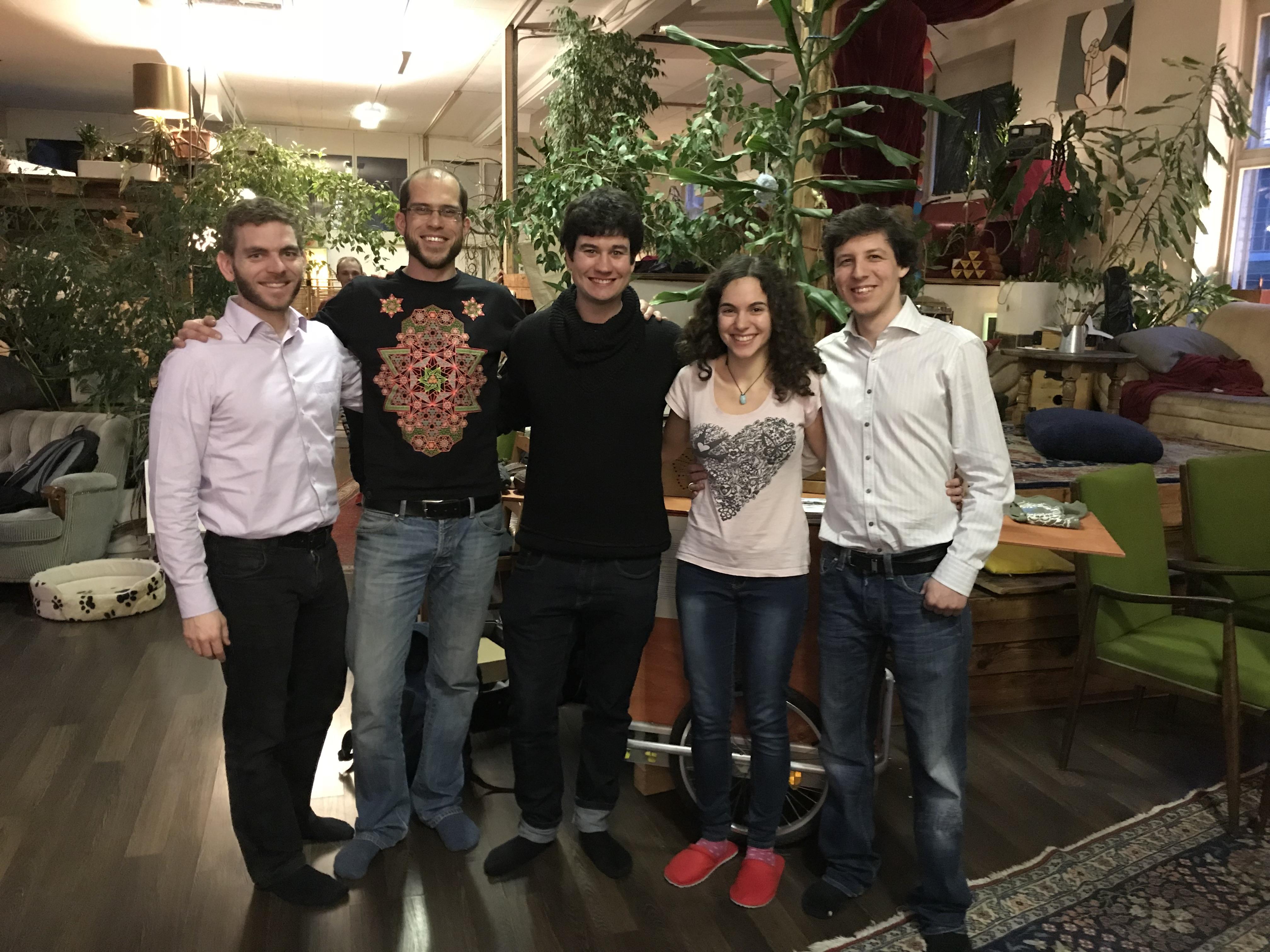 v.l.n.r. Dominic Ziegler (Geschäftsführer von Arbofino), Tobias Schrade (Vize-Präsident), Matthias Lindemer (Mitglied), Marion Seger (Cassière), Kai Reinacher (Präsident)